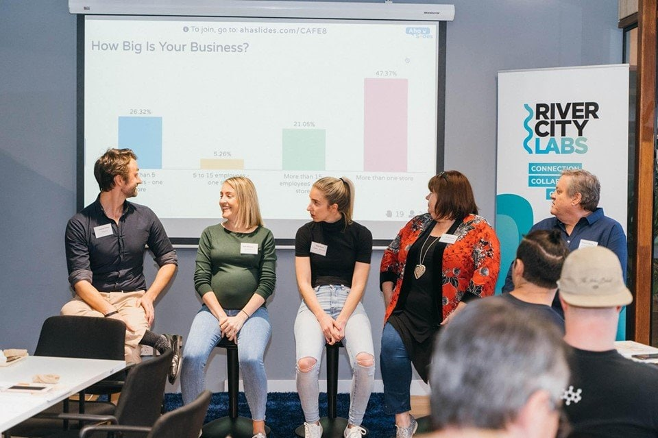 A workshop powered by AhaSlides (photo courtesy of Ken Burgin)