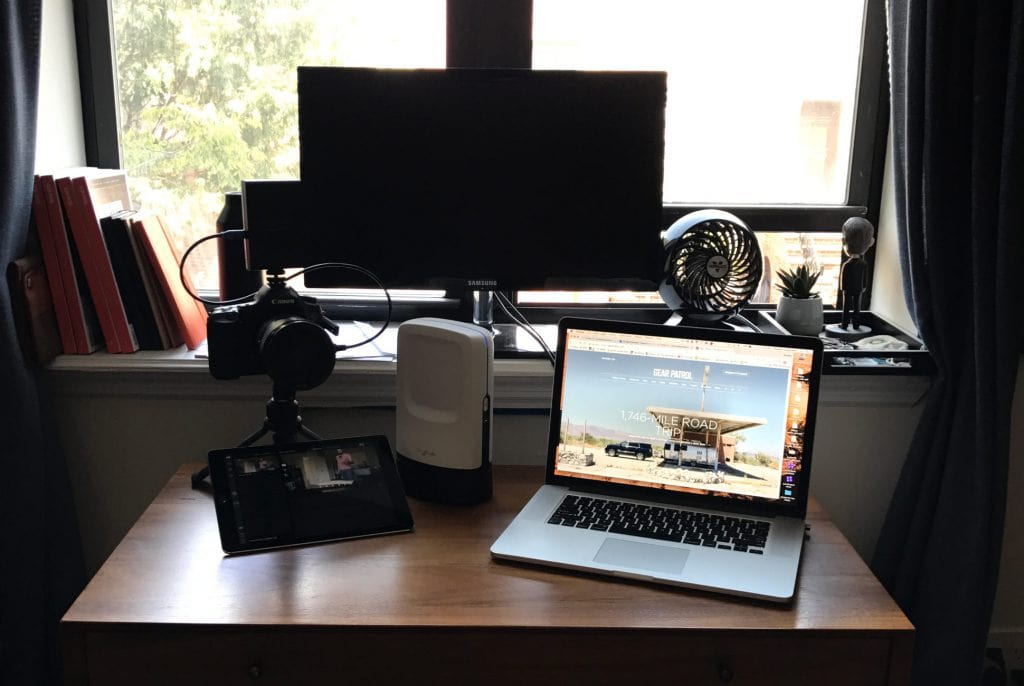 A professional live streaming setup for online pub quiz