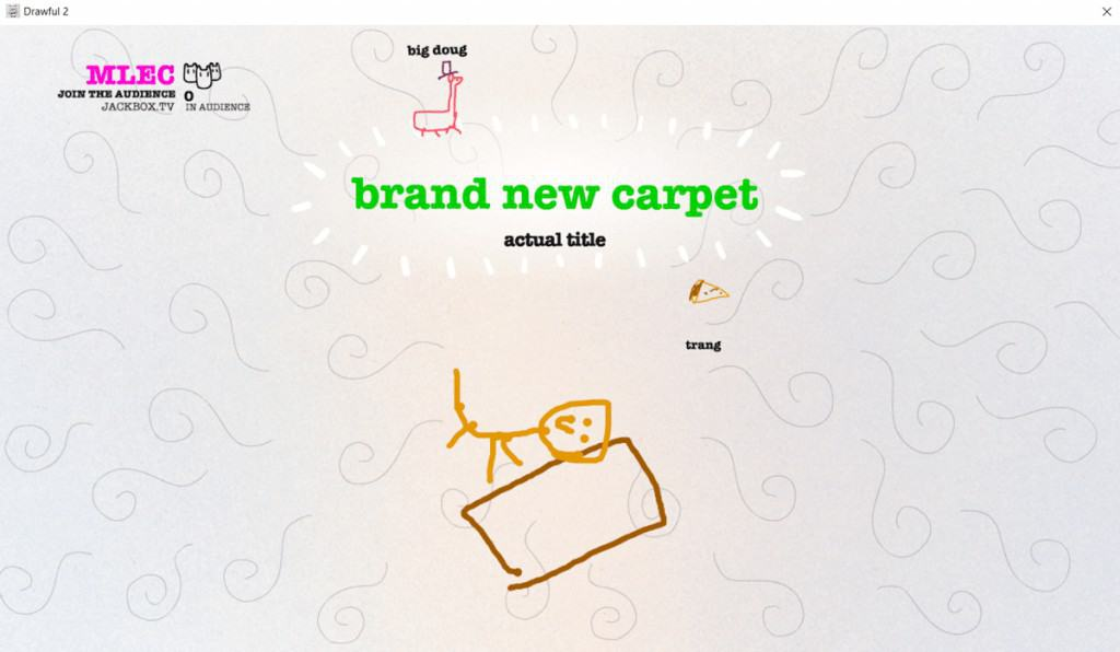 Drawful is a great app for virtual meeting ice breakers