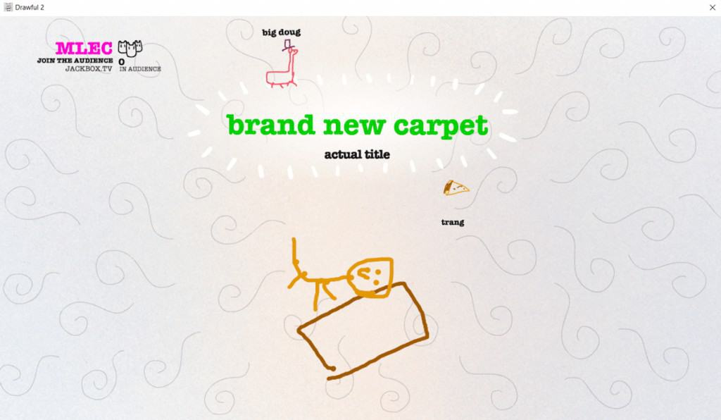 Playing Drawful 2 at a virtual party.