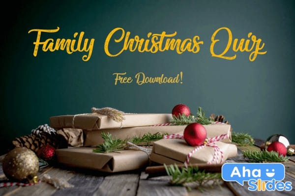 40-Question Premade Family Christmas Quiz 2020 (Free Download)