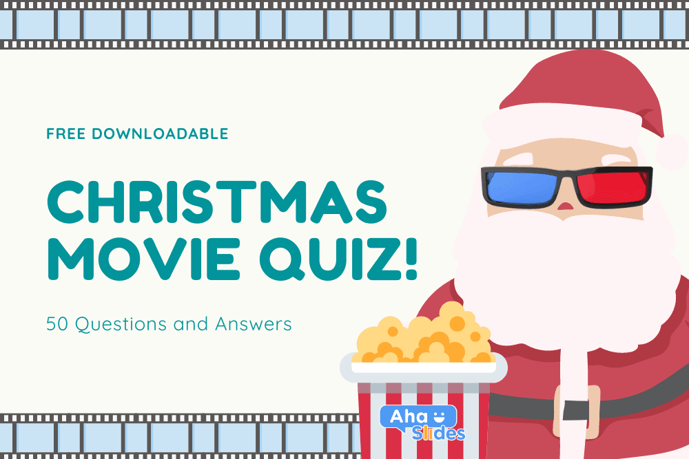 Free downloadable Christmas movie quiz with 50 questions and answers on AhaSlides.
