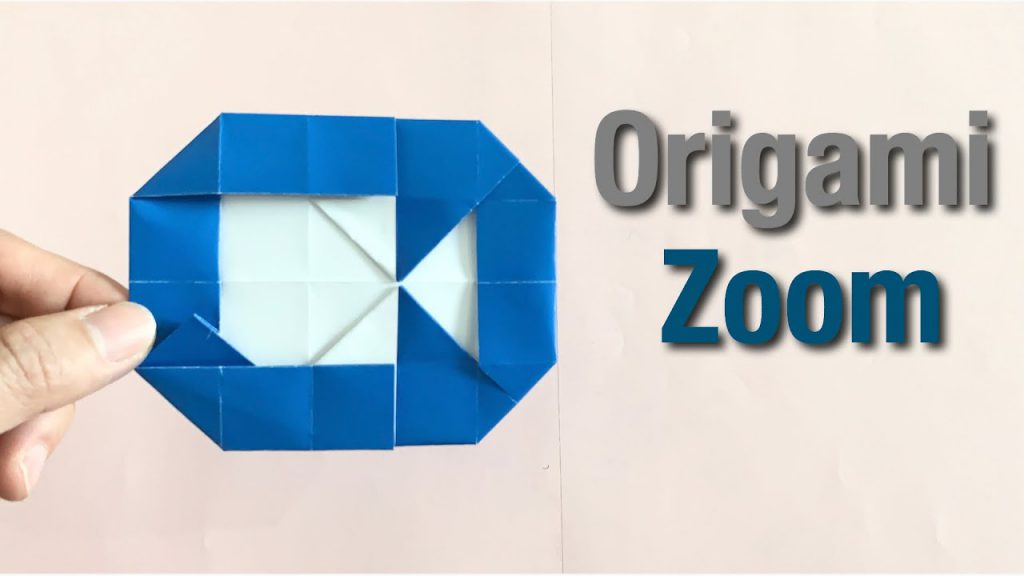 Zoom logo made out of origami.