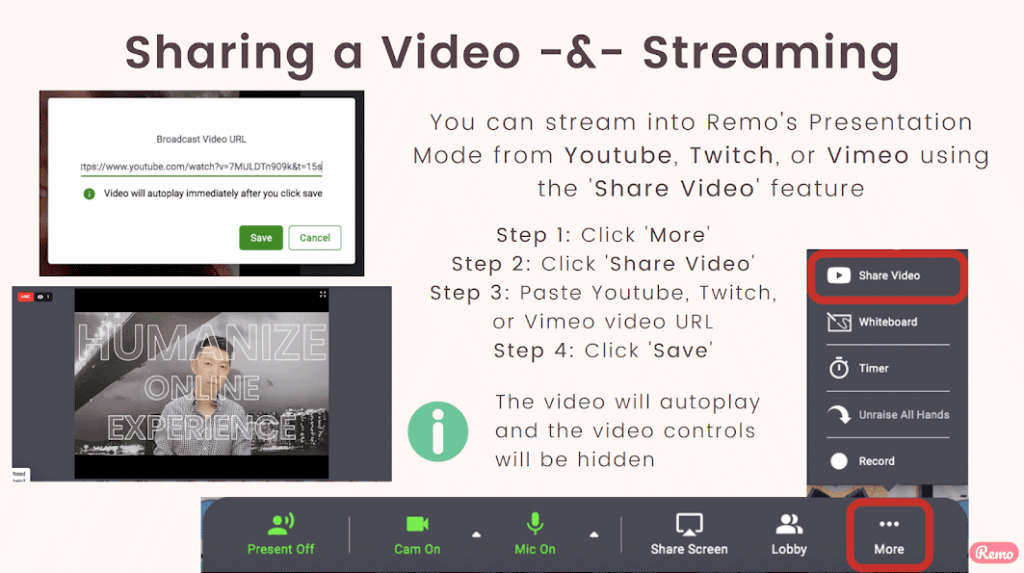 Sharing video is a crucial step to mastering virtual presentations