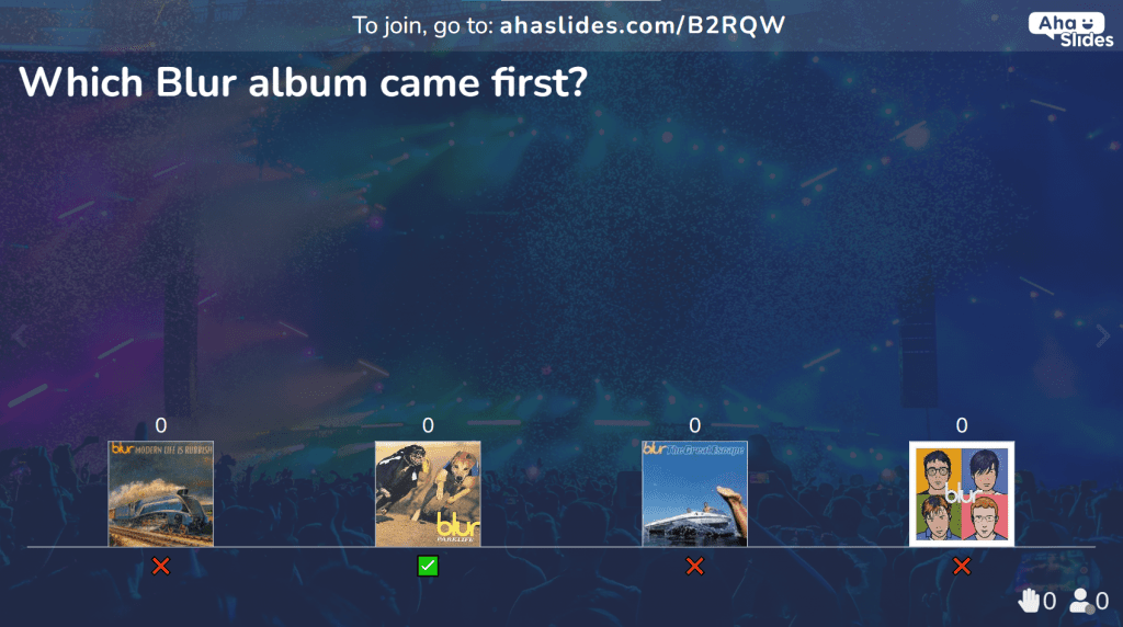Music images, one of the quizzes as part of the pop music quiz question and answer collection on AhaSlides.