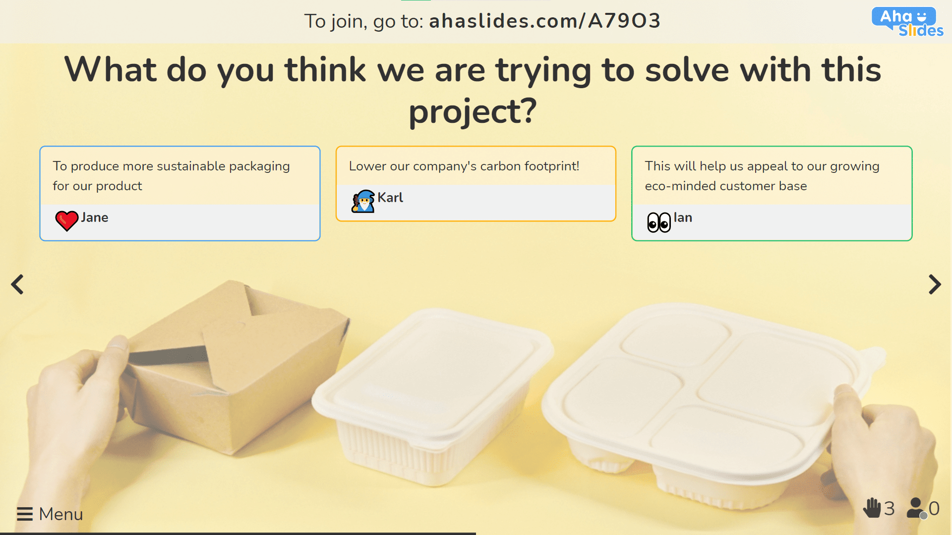 Asking your team about the problems to solve at a project kickoff meeting