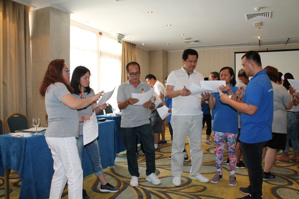 Philippine Embassy in Athens engaged in a 5-minute building activity.