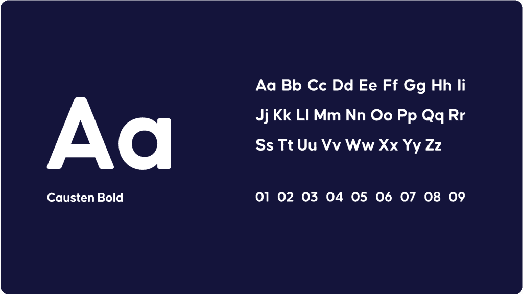 AhaSlides' new typography based around the font Causten Bold