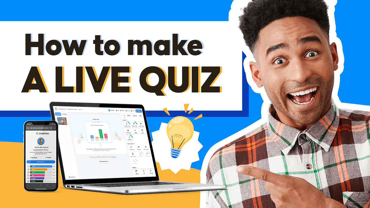 How to make a live quiz with AhaSlides